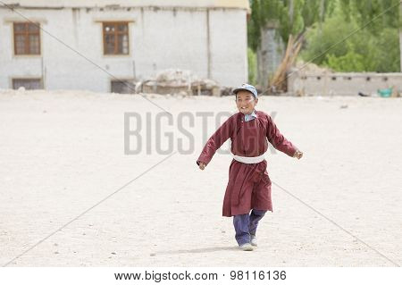 Tibetan Boys Involved In Sports.  Druk White Lotus School. Ladakh, India
