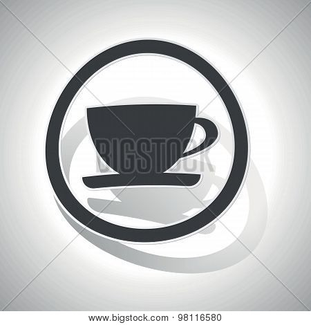 Curved cup sign icon