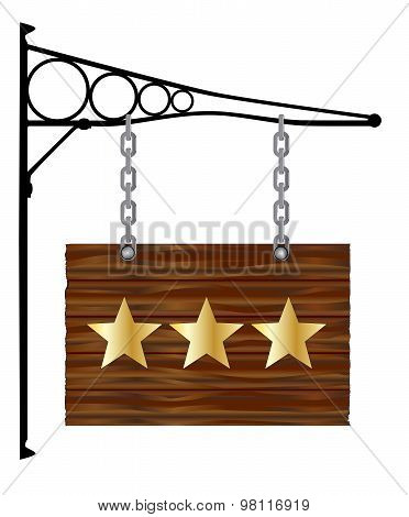 3 Star Hanging Sign