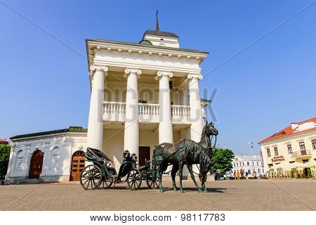 an Interesting monument - carriage, drawn by two horses