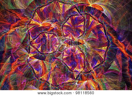 Illustration Of An Abstract Fractal Background With A Geometrica