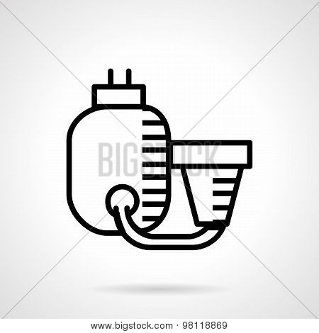 Filtration system black line vector icon
