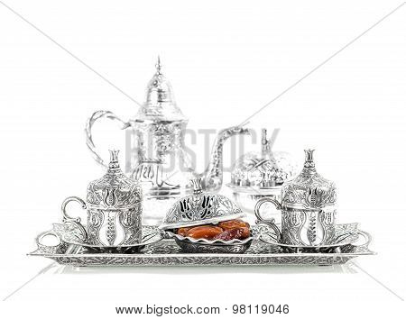 Silver Tableware, Dates, Tea Andcoffee Cups