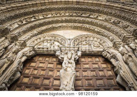 Portico of San Vicente church, Avila Spain