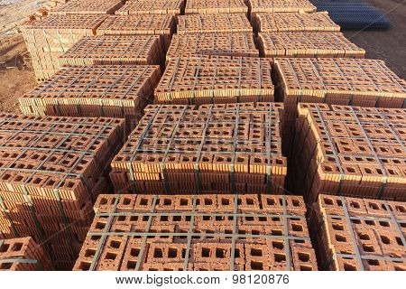 Brick Pallets Building Construction