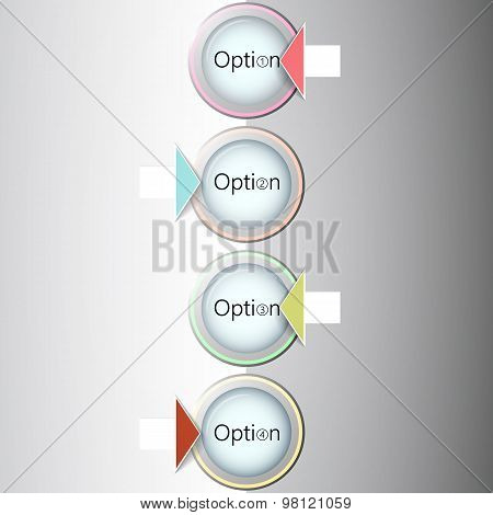 Abstract light numbered circles infographic design with your text and light background  Eps 10 vecto