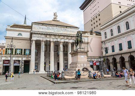 Garibaldi Statue  In Genoa, Italy