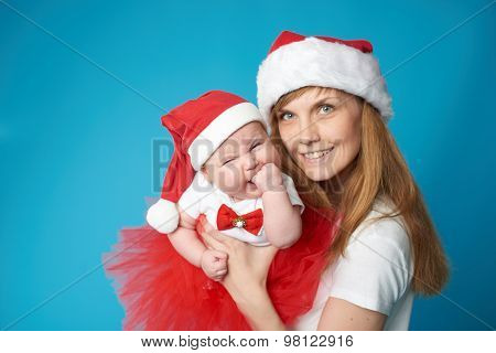 young mother with her sweet baby