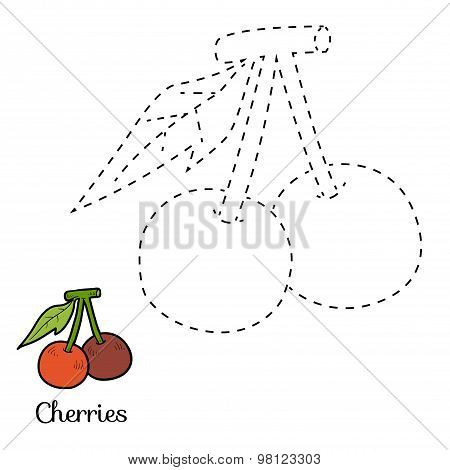 Connect The Dots: Fruits And Vegetables (cherries)