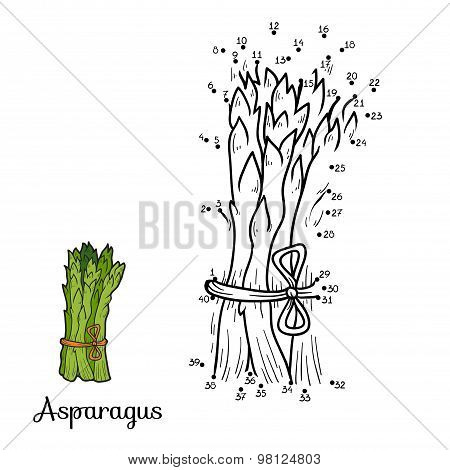 Numbers Game: Fruits And Vegetables (asparagus)