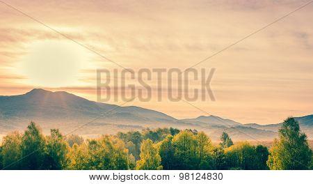Bieszczady Mountains Landscape, Poland