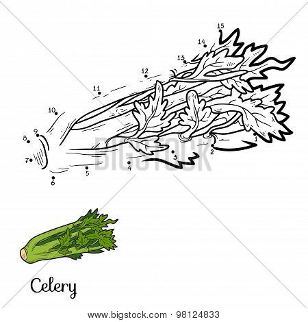 Numbers Game: Fruits And Vegetables (celery)