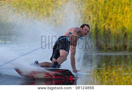 Wakeboarder Making Trick
