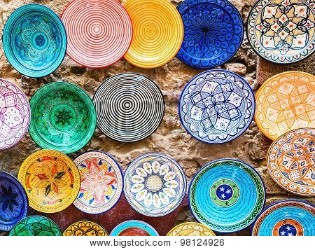 Traditional Ceramic Pottery In Morocco
