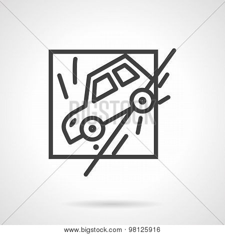 Insurance occasions line vector icon