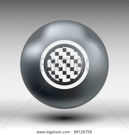 Apps metal-carbon fiber vector black background iron icon
