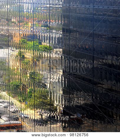 Beautiful Reflections In a Office Building.