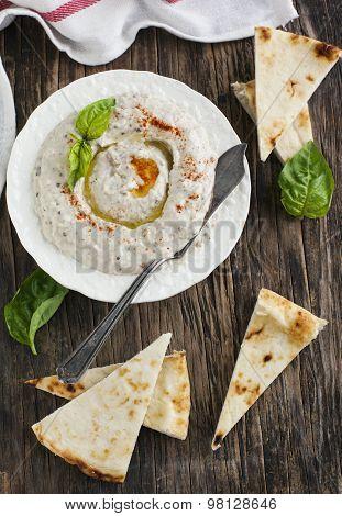 Eggplant Dip Baba Ganoush With Smoked Paprika.
