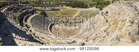 Miletus, Turkish Milet, Theatre Panoramic View, Turkey