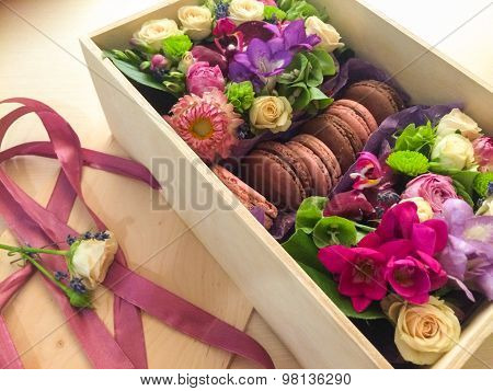 Beautiful small box of biscuits,