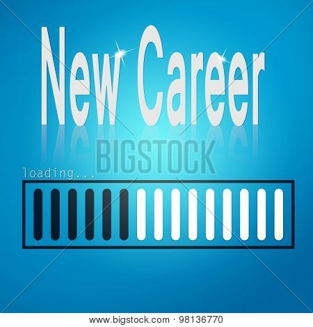 New Career Blue Loading Bar
