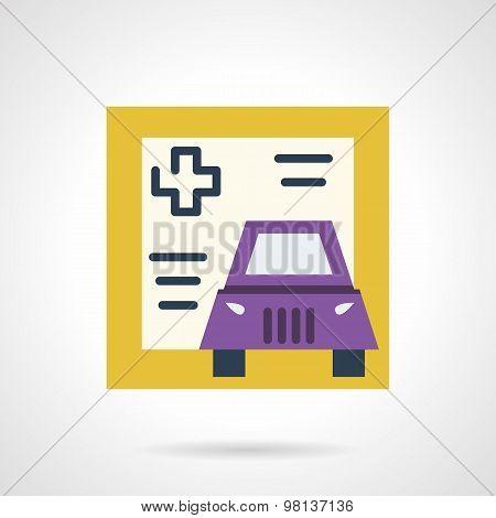Driver life insurance vector icon