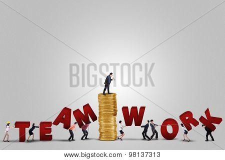 Entrepreneurs Arrange A Teamwork Text