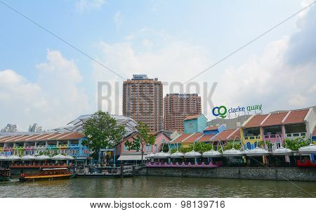 Colorful Buildings In Clarke Quay, Singapore