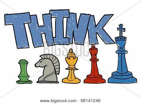 Think Ideas Brain Productive Creative Genius Challenge  Smart Concept