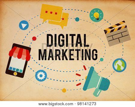 Digital Marketing Online Business Internet Branding Advertisement Concept