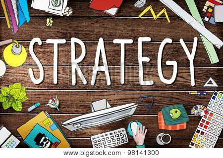 Strategy Planning Solution Vision Tactics Concept