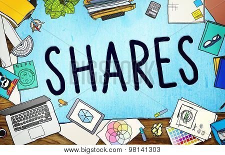 Shares Sharing Help Give Dividend Concept