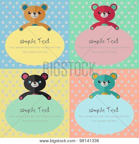 Bear Card,bear Background,backgrou Nd- Vector Illustration