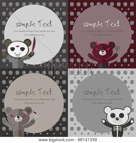 Bear Card,bear Background,background- Vector Illustration