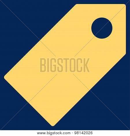 Tag Flat Yellow Color Icon