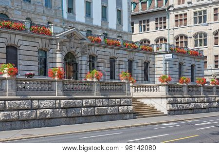 Facade Of The Zurich Municipal Police Building