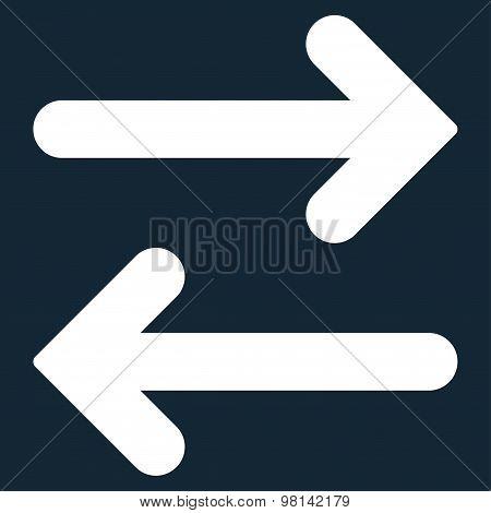 Flip Horizontal flat white color icon