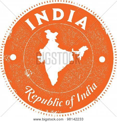 India Country Stamp