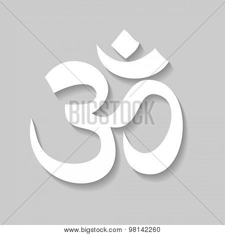 Om - sign, symbol, icon, logo.