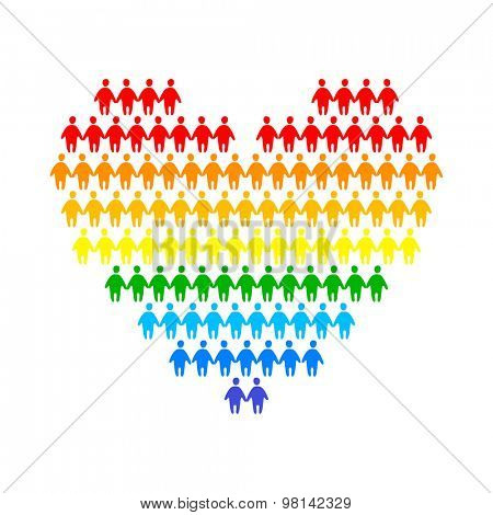 LGBT - a sign of gays and lesbians. The idea of a logo design for a gay pride parade, festival of free love or union protection of the rights of homosexuals.