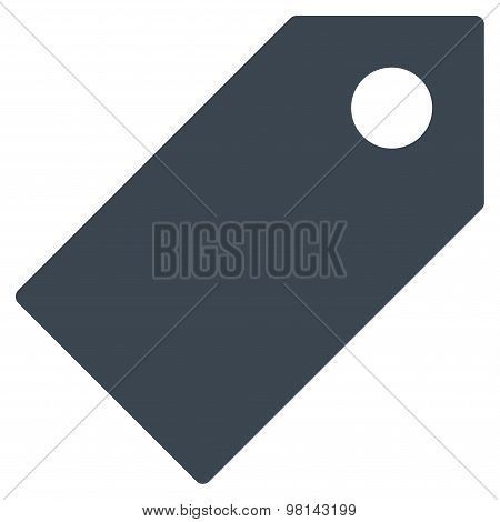 Tag flat smooth blue color icon