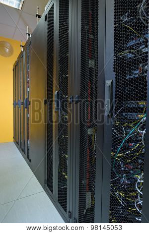 Datacenter server racks with network computers