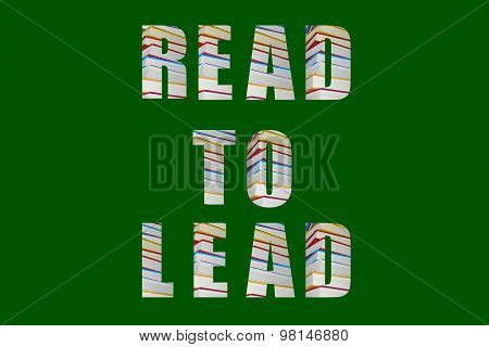Read to lead message with colorful letters