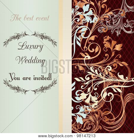 Wedding Invitation Soft And Tender Colors