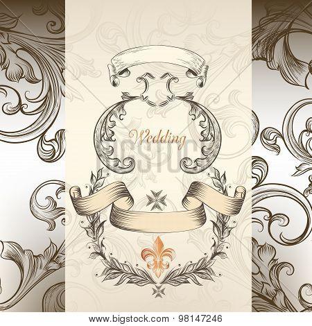 Luxury Wedding Invitation In Victorian Style