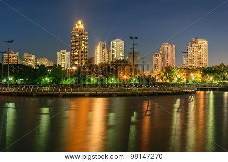 Bangkok Night And Benchakitti Park