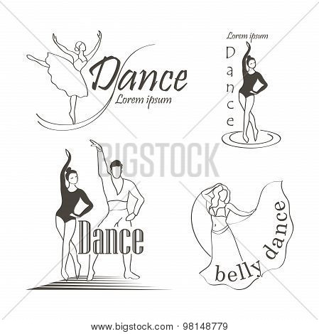 Set of dancing emblems