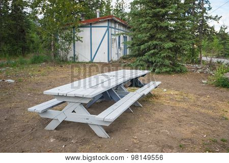 Picnic Table In Old Park