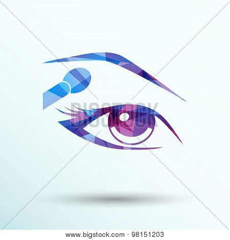 vector with beautiful female eyes different makeup