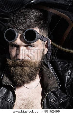 Sullen Man In Sunglasses